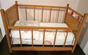 doll crib unique drop side wooden vintage retro by