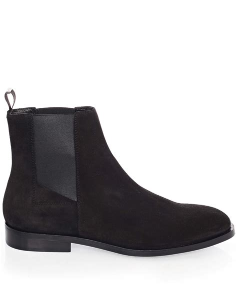 balenciaga boots mens balenciaga black suede chelsea boots in black for lyst