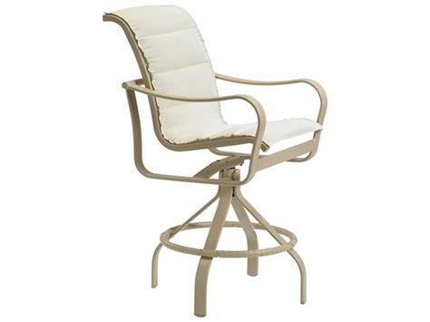 metal padded swivel bar stools tropitone shoreline padded sling aluminum swivel bar stool