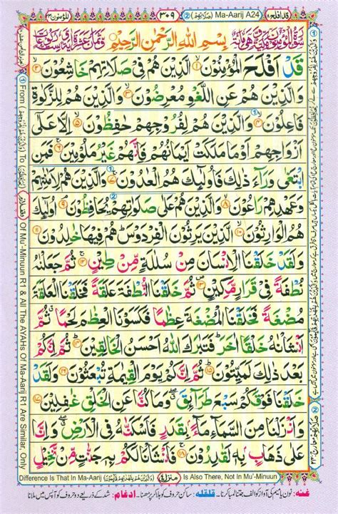 Al Quran Reader reading al quran part chapter siparah 18 page 309