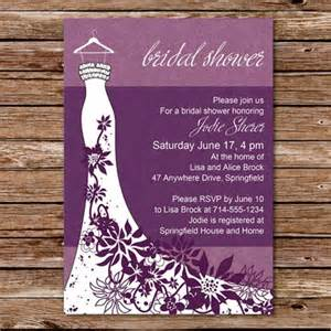 classic purple floral wedding dress bridal shower