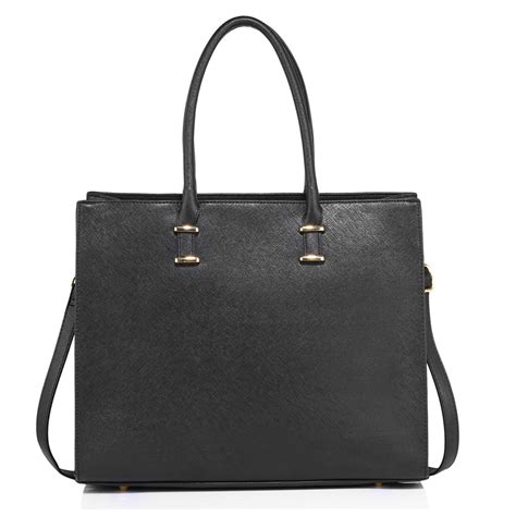 Black Fashion Bag ag00319 black fashion tote handbag