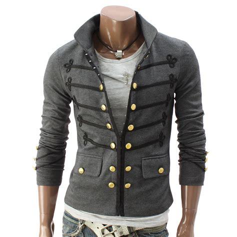 Jaket Zipper doublju mens button pointed zipper jacket sumlettuce