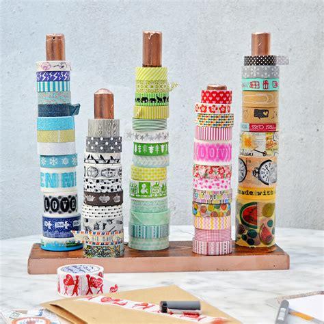diy washi diy handy washi tape holder twine ribbon holder pillar