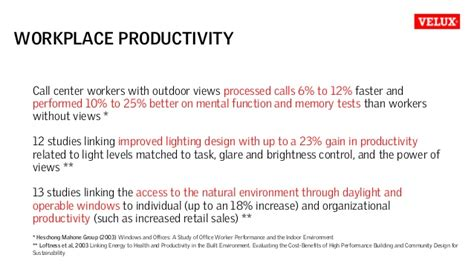 product design effect on productivity impact of light on human well being and productivity