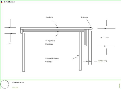 Corian Details Counter Detail Aia Cad Details Zipped Into Winzip Format