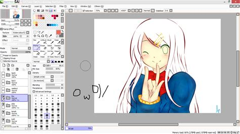 tutorial menggunakan paint tool sai tutorial paint tool sai tutorial mewarnai anime di paint