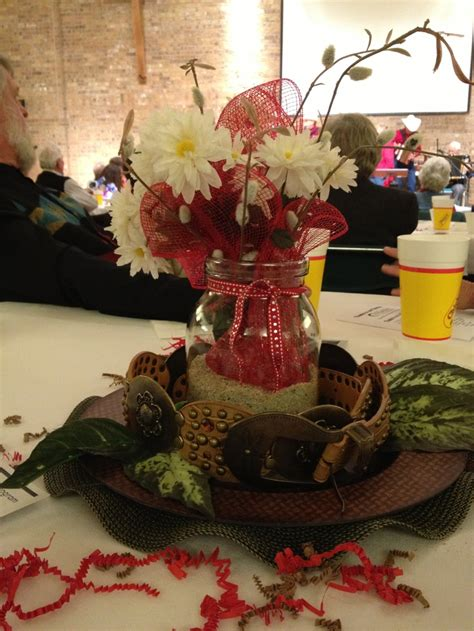 western centerpieces for weddings country western centerpiece