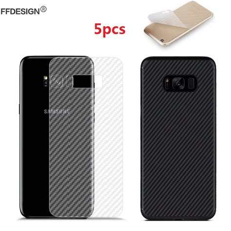 S6 Edge Plus 3d Carbon Back Screen Guard Anti Gores Karbon Not Garsk 5x carbon fiber back screen protector foil for samsung galaxy note 8 s8 plus s6 s7 edge a3