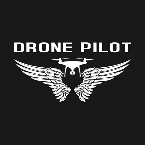 Drone Pilot Black drone pilot with wings drones t shirt teepublic