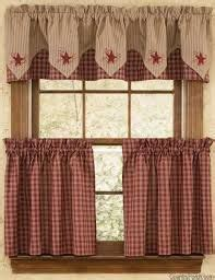 americana kitchen curtains buffalo check country curtain panel primitive country