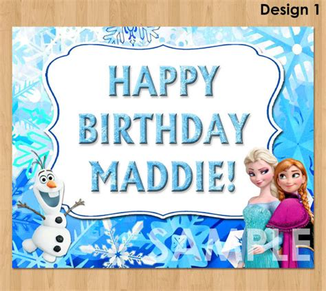 frozen printable welcome free frozen happy birthday card printable