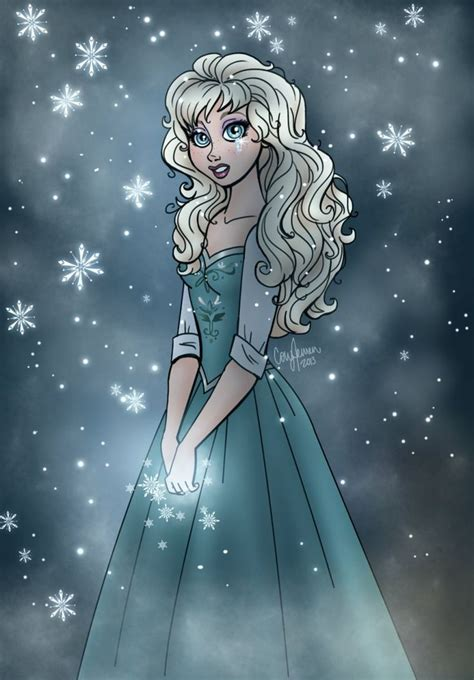 elsas frozen tears    deviantart frozen