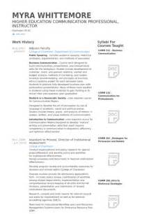 adjunct faculty resume samples visualcv resume samples