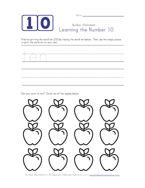 printable games for learning numbers learning number 10 math primary pinterest learning