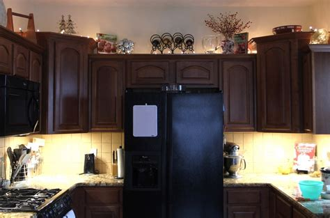 Above Kitchen Cabinet Lighting String Lights Above Kitchen Cabinets Home Everydayentropy