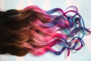 ombre colored hair extensions ombre dip dyed hair clip in hair extensions tie dye tips