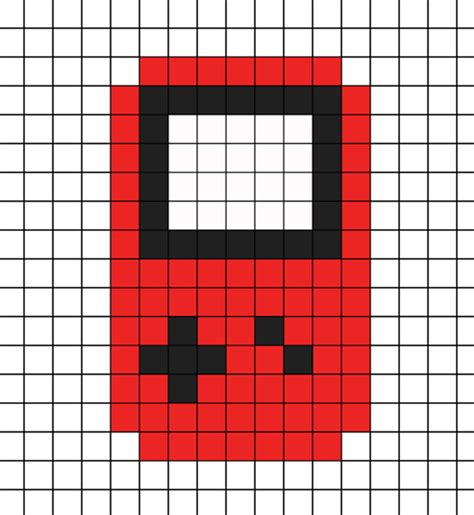 Gameboy Pattern perler bead boy car interior design