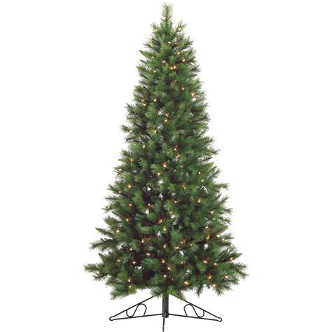 colorado pine or aster pine artificial christmas tree fraser hill farm 6 5 ft pre lit pine half wall or corner artificial tree with