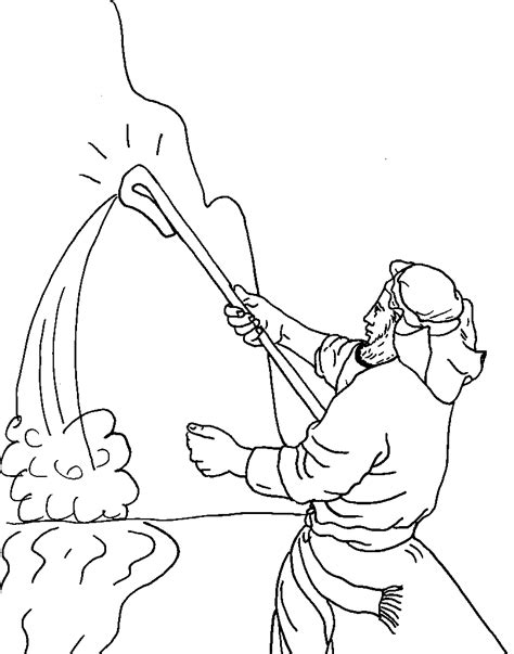 free coloring pages of moses water from the rock