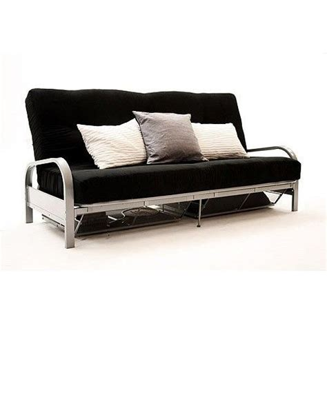 double metal futon sofa bed metal futon with storage sofas futons pinterest