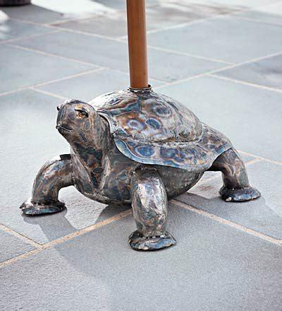 Handmade Turtle - umbrella stand handmade turtle umbrella base with copper