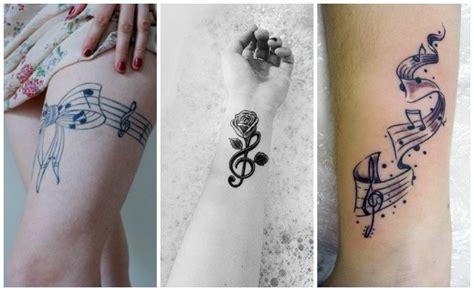 imagenes de notas musicales tatuajes tatuajes de notas musicales clave de sol y otros