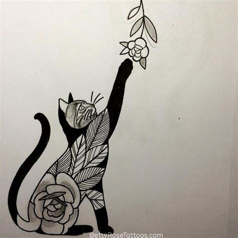 kitten tattoo pinterest rose cat tattoo design by betty rose this would be a