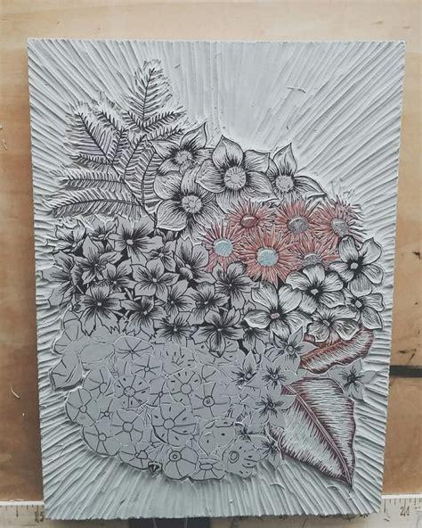 vintage pattern lino 17 best images about flower lino on pinterest folk art