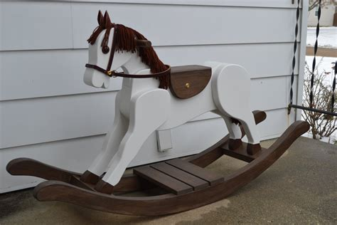 Handmade Rocking Horses - handmade large merrilegs wooden rocking large rocking