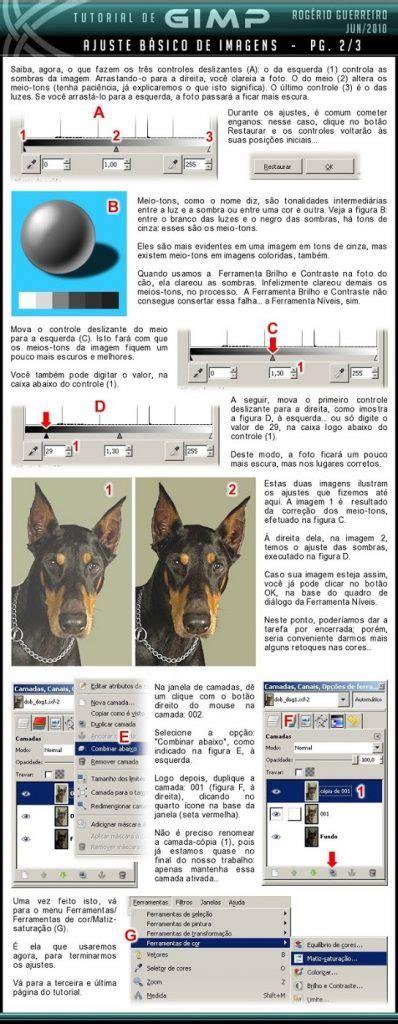 tutorial gimp basico ajuste b 225 sico de imagens gimp brasil