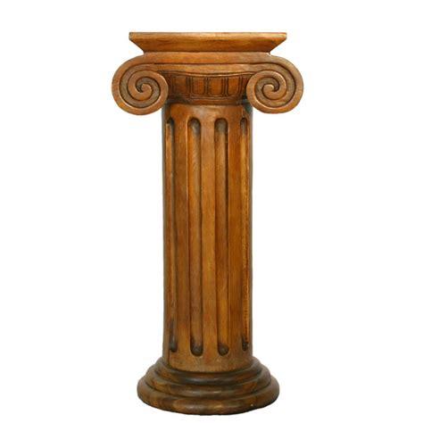 Grecian Columns Classic Column Pedestal Style End Table