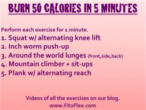 burn 50 calories in 5 minutes new at home workout via