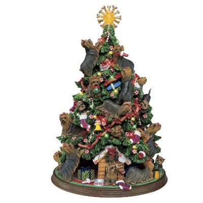 yorkie christmas tree the danbury mint