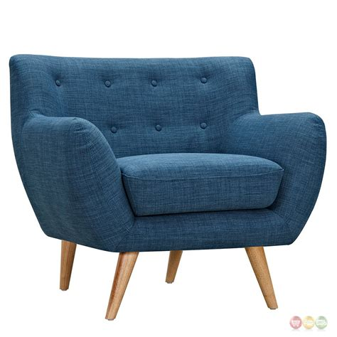 Blue Tufted Armchair Ida Modern Blue Button Tufted Upholstered Armchair With
