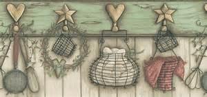 kitchen utensils wallpaper border