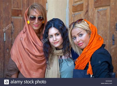 modern iranian muslim from teheran wearing scarves