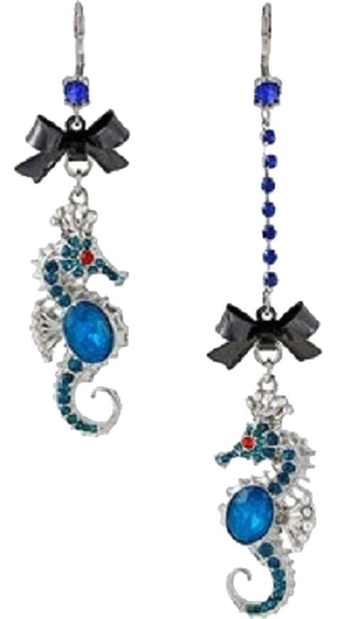 Betsey Johnson Blue Seahorse betsey johnson iconic blue seahorse dangle