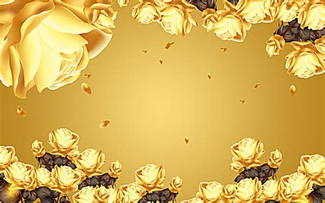 imagenes de rosas doradas flores doradas de material de antecedentes flores de oro