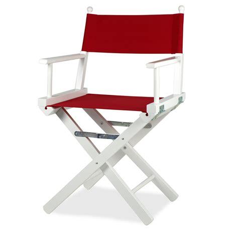 sedie de sedia da regista in legno laccato bianco regista p l