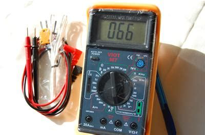 testing a capacitor with a multimeter digital ammeter multimeter capacitor tester type k thermocouple hvac electric ebay