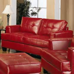 red leather living room set samuel red leather 2 pcs living room set sofa and