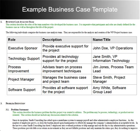 28 template for a business case business case