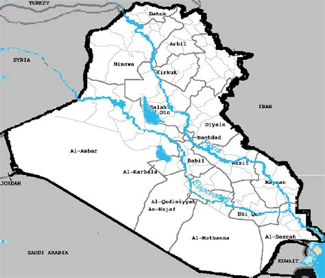 map of iraq rivers file iraq rivers and governorates png wikimedia commons