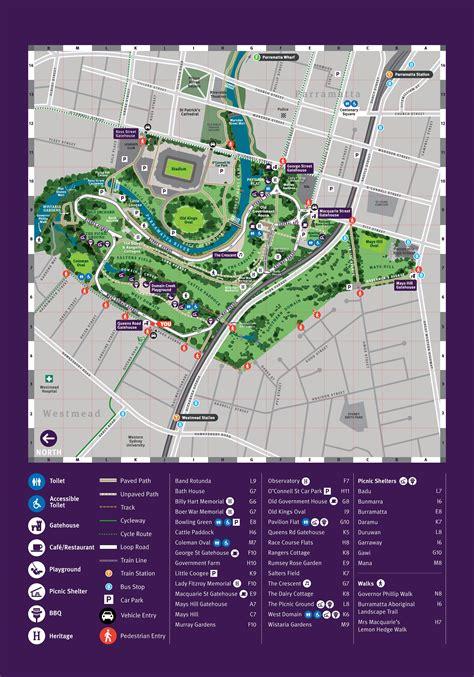 parramatta park park map