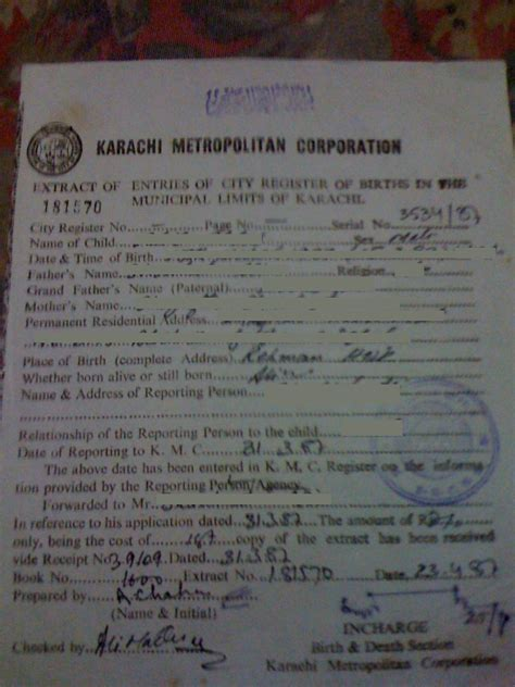 Kmc Birth Record About Kmc Birth Certificate And Marriage Certificate Ir 1 Cr 1 Spouse Visa Process