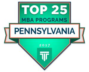 Top Ranked Mba Programs In Pennsylvania top 25 mba programs in pennsylvania 2017