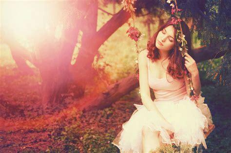 girl in swing dress flowers girl spring swing favim com 132917 lena