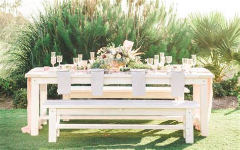 rent benches rentals rustic events