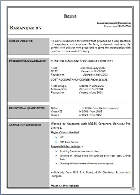 articleship resume format 28 images ca mehul bhanawat resume 100 articleship resume format